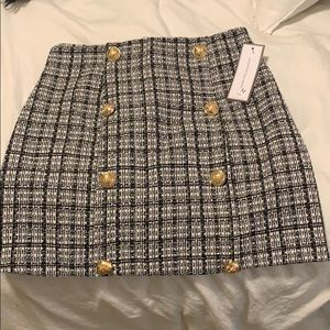Goodnight Macaroon Tweed Skirt